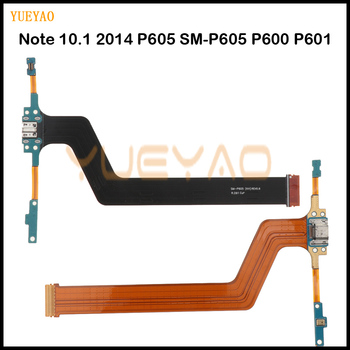 Micro USB Charging Port Connector Charger Dock Flex Cable For Samsung Galaxy Note 10.1 2014 P605 SM-P605 P600 P601 Charging Flex image