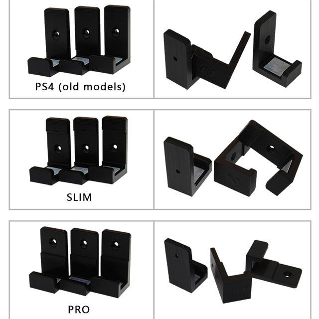 Wall Mount Wall Bracket Cradle Holder for Sony PlayStation 4 PS4 Slim PS4Pro Game Console Host Accessories