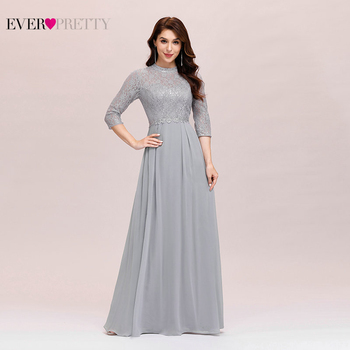 Elegant Evening Dress Chiffon Ever Pretty EP00475GY A Line Sequined Ruffles Long Dresses For Women Formal Gown Ladies 2020 - discount item  15% OFF Special Occasion Dresses