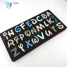 Czarny alfabet garnitur DIY nowe drewniane formy wykrojniki do scrapbookingu grubości/15.8mm /S089