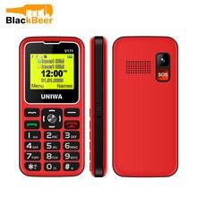 Uniwa v171 v808g 231 дюймовый мобильный телефон 2g для пожилых