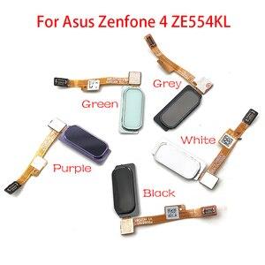 "Image 1 - 10 ชิ้น/ล็อต,เซ็นเซอร์ลายนิ้วมือ Home Return Key เมนูปุ่ม Flex Ribbon Cable สำหรับ ASUS Zenfone 4 ZE554KL 5.5"""