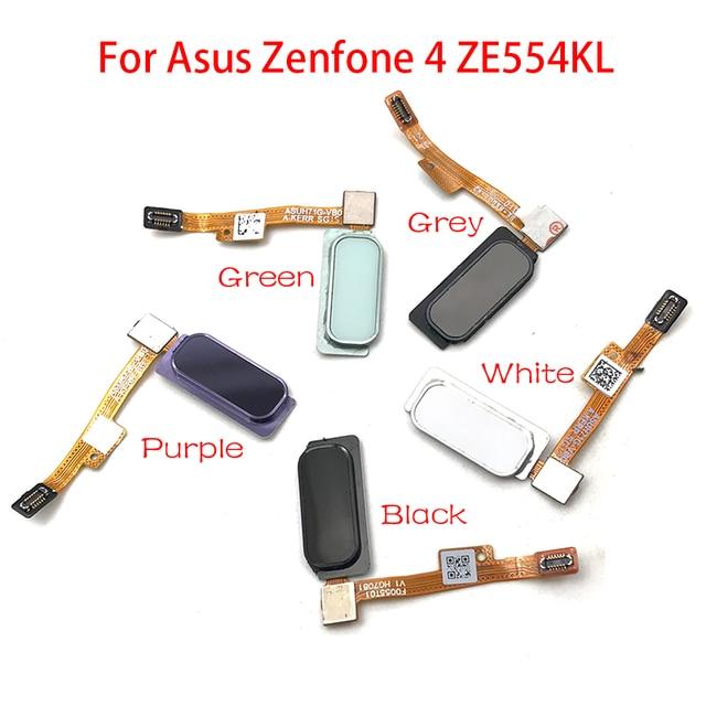 """10 ชิ้น/ล็อต,เซ็นเซอร์ลายนิ้วมือ Home Return Key เมนูปุ่ม Flex Ribbon Cable สำหรับ ASUS Zenfone 4 ZE554KL 5.5"""""""