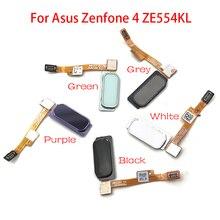 """10 teile/los, Fingerprint Sensor Home Return Key Menü Taste Flex Band Kabel Für ASUS Zenfone 4 ZE554KL 5,5"""""""