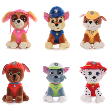 20CM Paw Patrol Cartoon Plush Dolls Toys Rescue Dogs Anime Figure Model Puppy patrol Action kids Birthday Gift