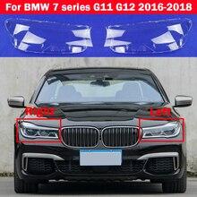 Auto Caps For BMW 7 series G11 G12 2016 2018 730Li 740Li 750Li Car Headlight Cover Glass Lens Shell Case Head Light Lampshade