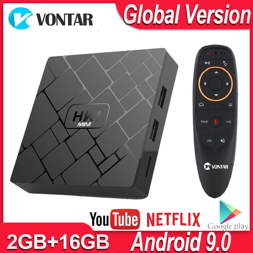 HK1 Mini TV Box Android 9.0 Smart TV BOX RK3229 Quad Core 2GB RAM 16GB ROM H.265 HEVC 2.4G Wifi 4K HD Media Player Set Top Box