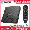 HK1 Mini Tv Box Android 9.0 Smart Tv Box RK3229 Quad Core 2Gb Ram 16Gb Rom H.265 Hevc 2.4G Wifi 4K Hd Media Speler Set Top Box