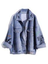 Модная новая джинсовая куртка с надписью и вышивкой в стиле