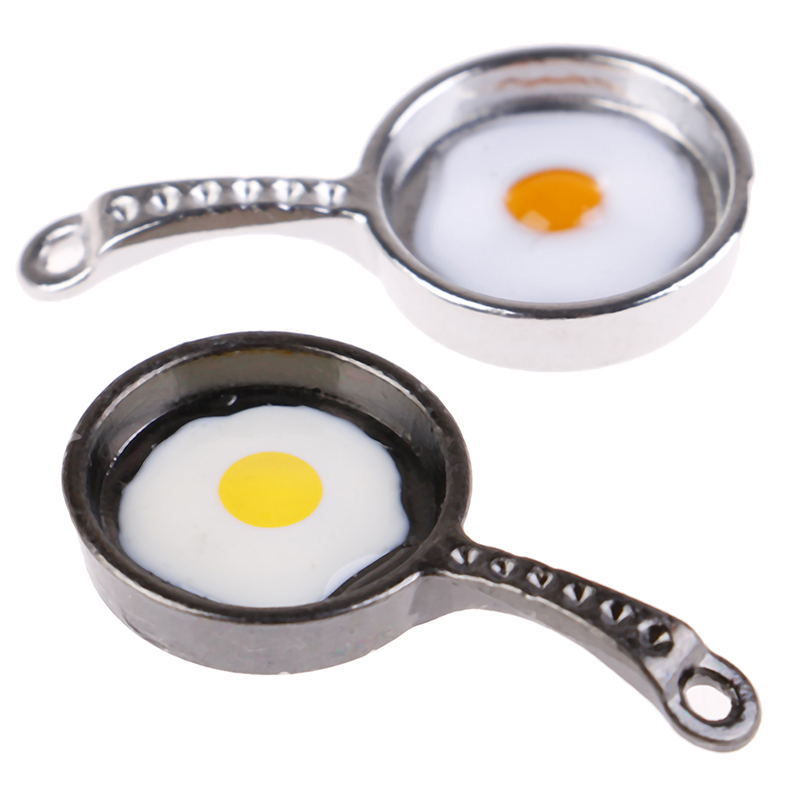 1/12 Scale Dollhouse Miniature Frying Egg Pans For 12th Dolls House Kitchen Accessories Doll House Decor