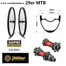 345g סופר אור משקל 29er MTB שפת פחמן אופני הרי גלגל XC זוג גלגלים ללא פנימית מוכן עם DT השוויצרי 240 רכזת