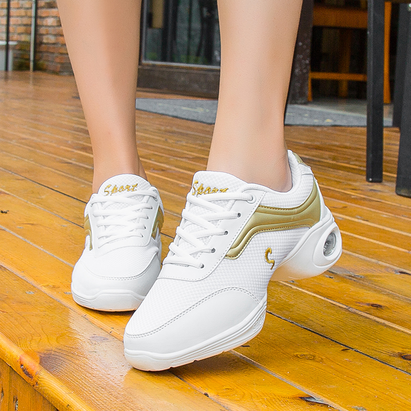 2019 Fashion Hip Pop Casual Shoes Women Dance Sneakers Air Cushion Breathable Mesh Sports Trainers Female Non-slip Dancing Shoes