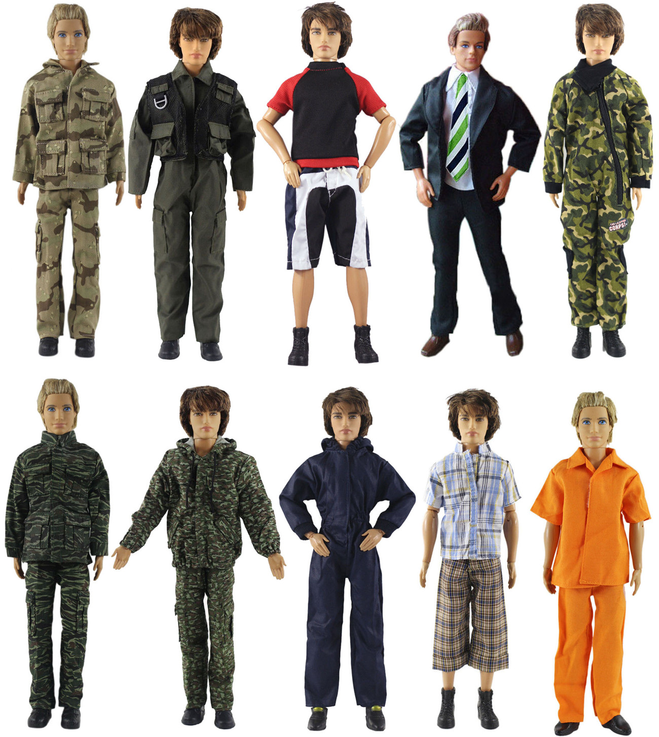 1 Set Doll Clothes Outfit for 12 inch Ken Doll Many Style for Choice A02|Dolls|   - AliExpress