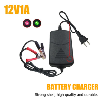 12V US Plug Smart Compact Battery Sealed Lead Acid Rechargeable Automatic Battery Charger Per Car Truck Motorcycle image