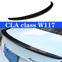 Spoiler de carbono asa lábio para benz cla classe w117 cla180 cla200 cla250 spoiler traseiro cla45 2013-em