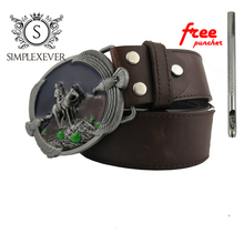 Cowboy Ealge Design Silver Belt Buckle for Men Jeans Pants Accessories Luxurious with