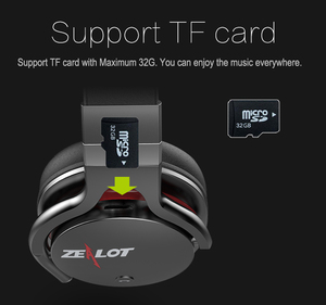 Image 4 - Zealot B5 Bluetooth Cuffie Stereo Bass Auricolare Senza Fili Auricolare Bluetooth con Micropone Slot Per schede di TF di Sostegno, Nero, Rosso