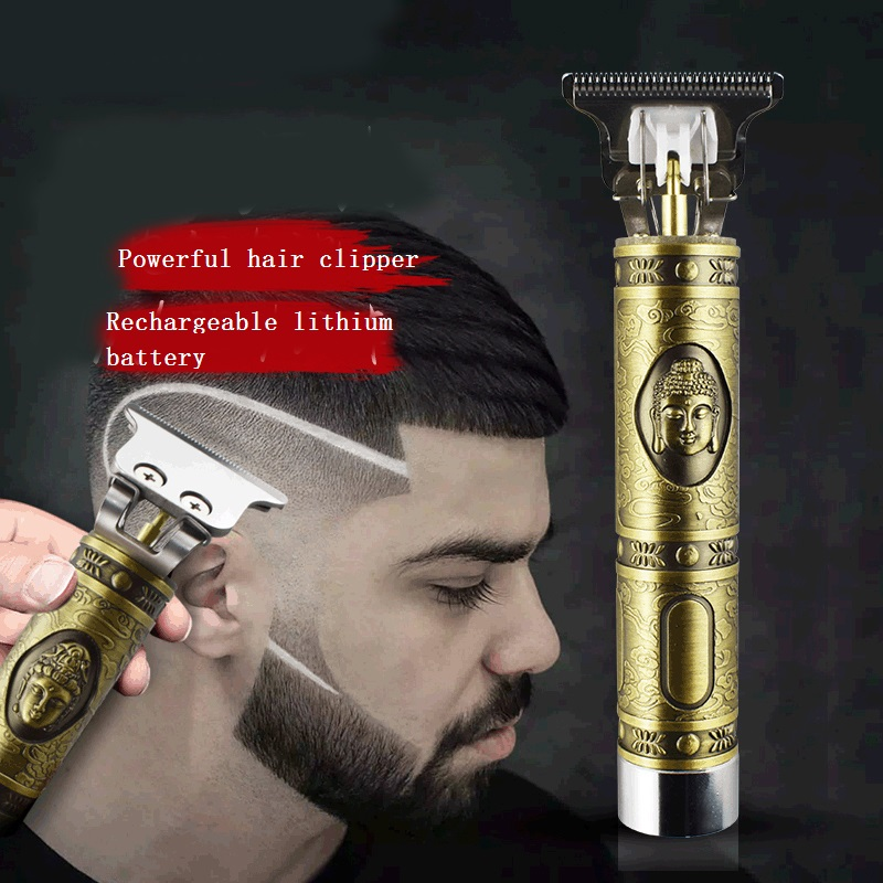 Close-cutting Digital Hair Trimmer Rechargeable Electric Hair Clipper Barbershop Cordless 0mm T-blade Baldheaded Outliner Men