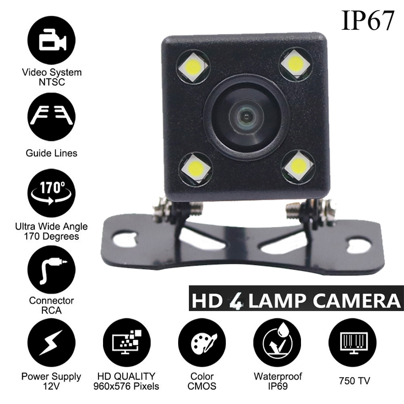 4 8 12 LED Lamp Rear View Camara Night Vision Reverse Camera HD Lens 2 5mm Jack with 6m Cable for Car Dvr Mirror Recorders