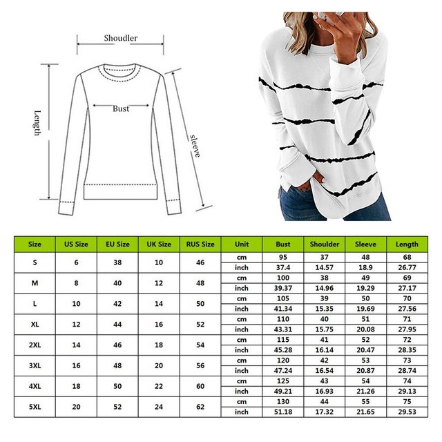 Striped Print Long Sleeve Black Hoodies Women 2020 Big Size 5XL Casual Tee Black Autumn Top O-Neck Loose Sport Ladies Hoodies 6