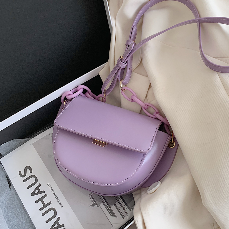 PU Leather Solid Color Crossbody Bags For Women 2020 Fashion Small Shoulder Bag Female Handbags And Purses Saddle Bag
