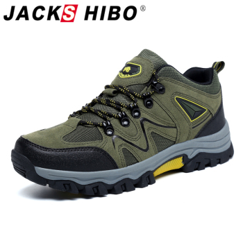 Jackshibo Hiking Upstream Shoes Boots For Men Outdoor Trekking Tourism Boots Camping Shoes Mountain Climbing Sports Sneakers merrto women s outdoor hiking trekking sneakers anti skid wear resistant damping shoes camping climbing mountain travel shoes