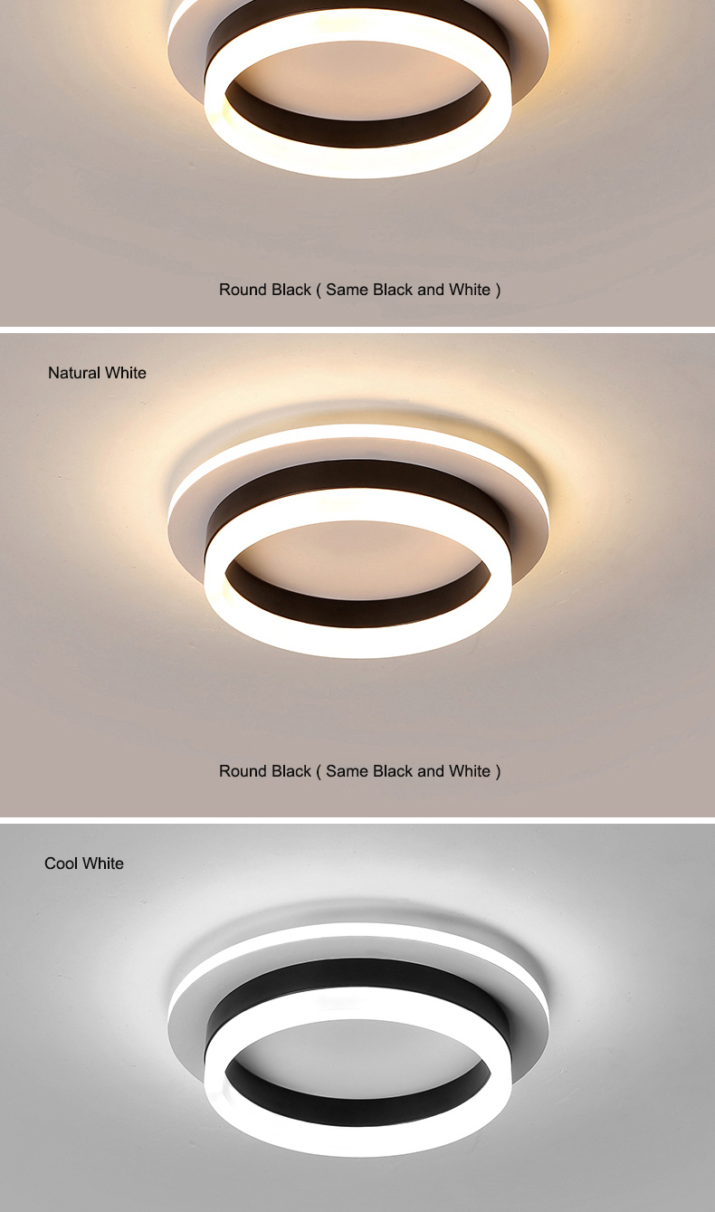 H463b9a54d2b34a5cb3e2540f2e3f76a8D Modern Led Ceiling Lights For Hallway Porch Balcony Bedroom Living Room Surface Mounted Square/Round LED Ceiling Lamp