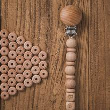 20pc Wooden Beads Mini Abacus Beads BPA Free Beech Baby Teether DIY Pacifier Chain Bracelet Wooden Blank Nurse Gift Baby Product