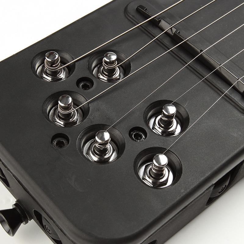 Silence électrique guitare 18 frettes Cool plastique pratique 6 cordes guitare acoustique formateur outil pièces Gadget pour débutants - 4