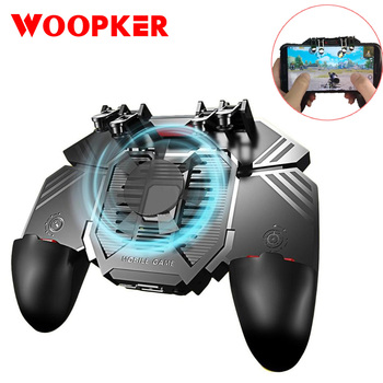 PUBG Game Controller Six Finger All-in-One Mobile Gamepad for AK77 Free Fire Shooting Key Button Joystick