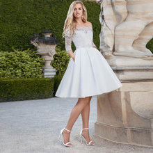 2021 Элегантные короткие свадебные платья vestido de noiva с