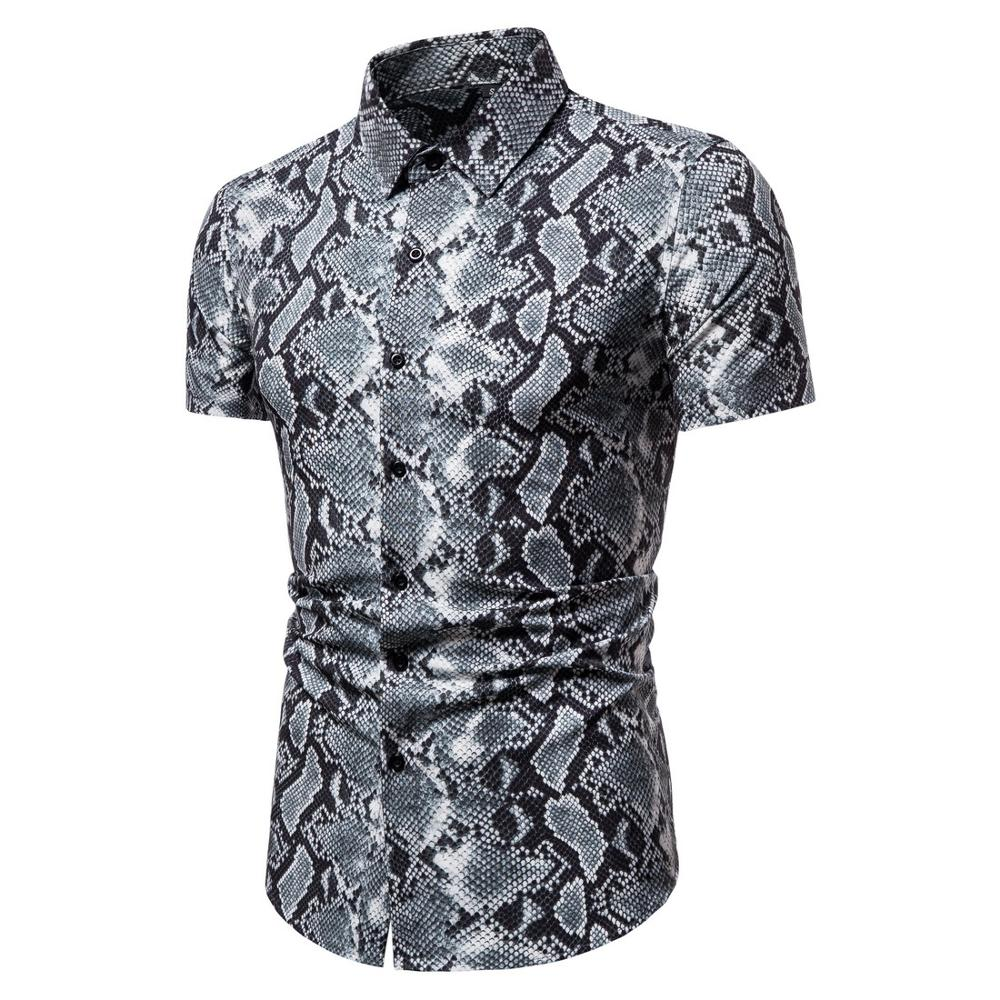 Cotton Leopard  Shirt Large Size Cotton Short-sleeved Casual Young Men's Shirt