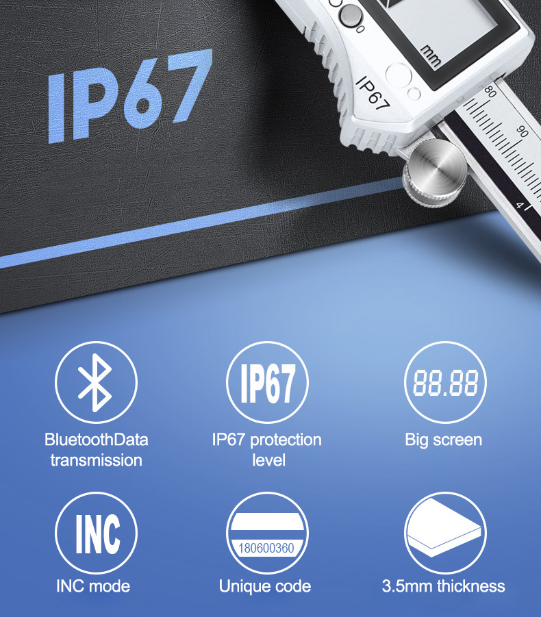 prova dip67 água ip67 aço inoxidável vernier