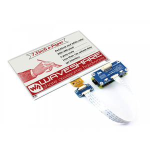 Image 3 - 7.5 polegadas e paper hat (b) 800 × 480 e ink display módulo três cores spi interface com exemplos para raspberry pi/stm32