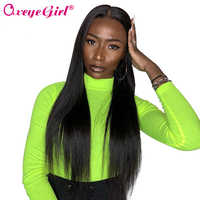 Oxeye girl 13x6 Lace Front Wig Straight Lace Front Human Hair Wigs For Black Women Brazilian Lace Wig With Baby Hair Remy 10-26