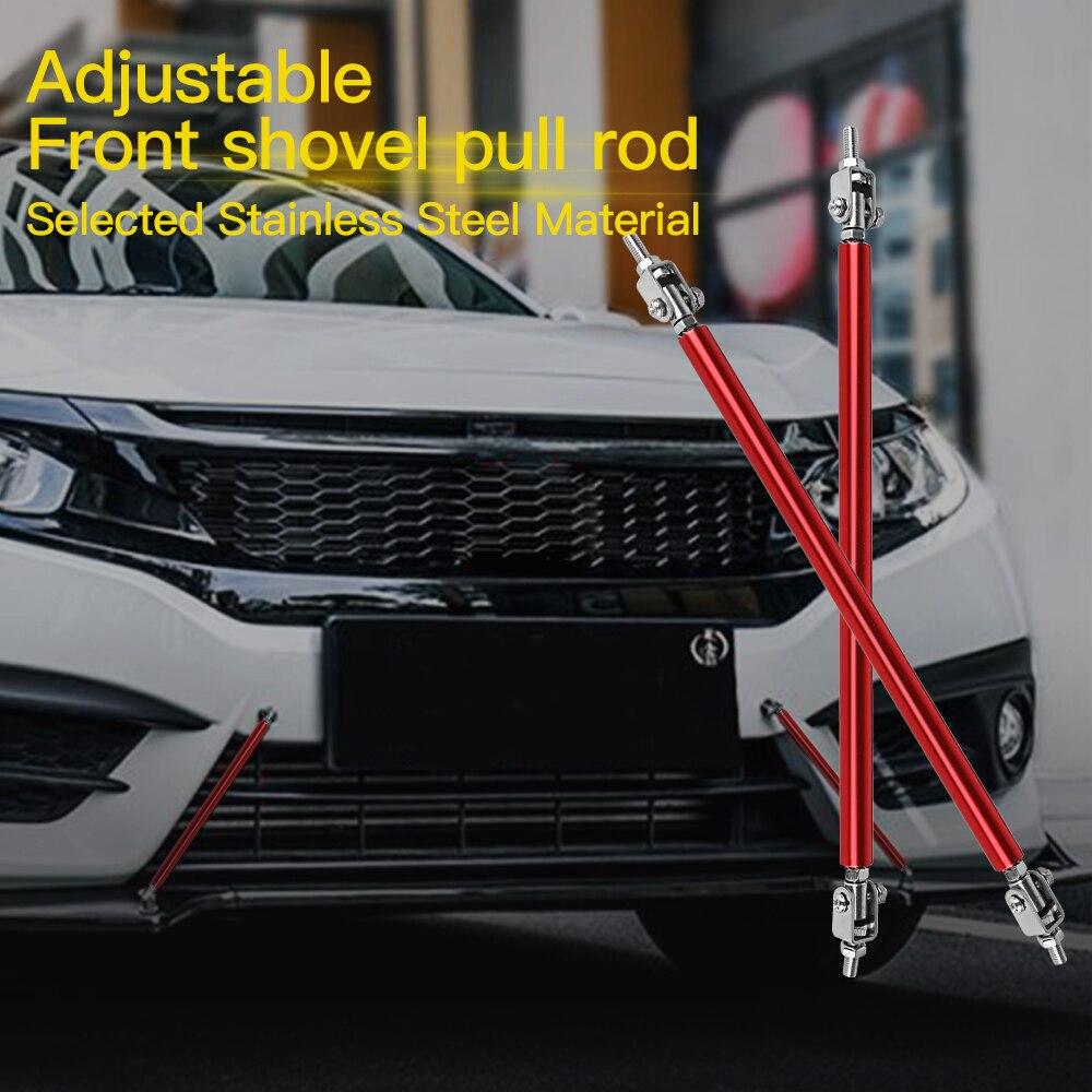 idain One Pair Adjustable Front Bumper Lip Splitter Strut Tie Bar Strut Rod 100mm,Black
