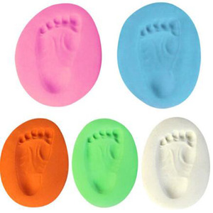 1pc Baby Hand Print Footprint Imprint Kit Casting Baby Air Drying Soft Clay Babys on Progress Souvenirs Hand Ink Pad Fingerprint