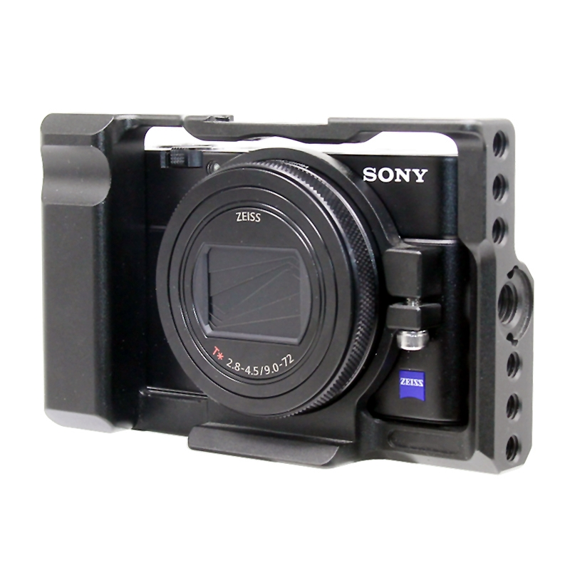 Pro for Sony <font><b>RX100</b></font> M7 Camera Cage Aluminum Alloy Protective Cover with 1/4 Thread Holes for Sony <font><b>RX100</b></font> M7 VII 7 105g image