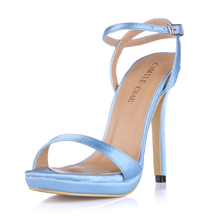 Summer New 12cm High Heeled Sandals Ankle Strap Women Sandals Stiletto Thin heel Open Toe Sexy Party Dress Lady Shoe 3ASL-a3