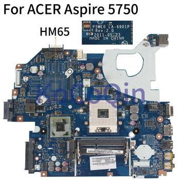 KoCoQin ноутбук материнская плата для Acer Aspire 5750 5750G материнская плата P5WE0 LA-6901P MBRFF02005 HM65
