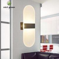 LED Light nowoczesna lampa ścienna akrylowa kinkiet 10W AC220V płomień kształt kryty łazienka sypialnia salon przedpokój artystyczna dekoracja w Lampy ścienne od Lampy i oświetlenie na
