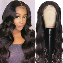 Brazilian Body Wave Human Hair Wigs Pre Plucked Natural Color 27 Lace Wigs For Black Women Remy Hair Wig With Baby Hair 150%