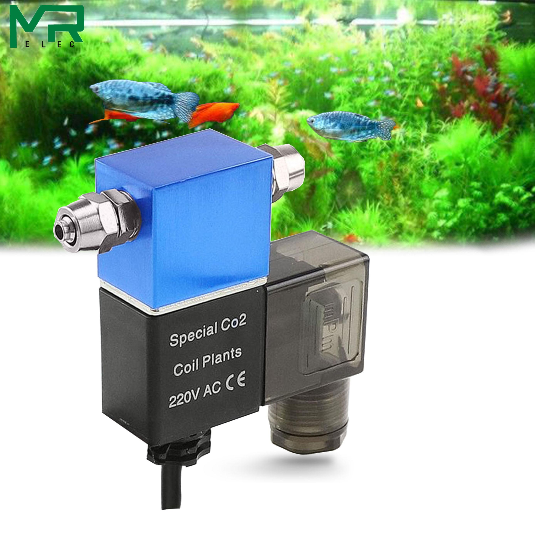 WYIN Aquarium Products 1.6W 220V CO2 Magnetic Solenoid Valve Regulator Low Temperature CO2 DIY Magnetic Valve