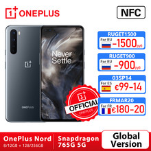 Versão global oneplus nord 5g OnePlus Official Store snapdragon 765g smartphone 8gb 128gb 6.44 90 90 90hz tela amoled 48mp quad cams warp carga 30t
