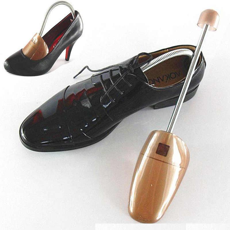 1 çift ayakkabı sedye plastik ayakkabı ağacı şekillendirici raf sedye kaleci ayarlanabilir boyutu erkek kadın zapatos de hombre kahverengi