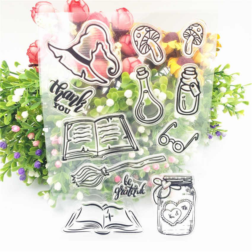Quyuan Silicona Claro Sello Sello DIY Scrapbooking Gofrado /Álbum de fotos Tarjeta de papel decorativo Arte Arte Regalo hecho a mano