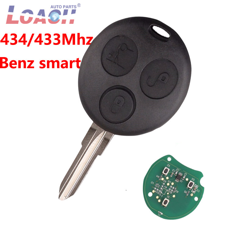 434MHz 3Buttons Remote Car <font><b>key</b></font> For Benz For Mercedes Benz <font><b>Key</b></font> <font><b>Smart</b></font> Fortwo <font><b>450</b></font> Forfour Roadster Chiave Auto <font><b>Key</b></font> image