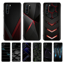 Black Light Dark Figures Black Cover Phone Case For Huawei Mate 30 20 10 P30 P20 P10 Pro Lite P Smart Z 2019 Luxury Coque Shell(China)