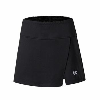2019 w nowym stylu sportowa spódnica płaszcza krótka spódniczka uniwersalne damskie spodenki wolankowe spódnica do tenisa szybkoschnąca spódnica podzielona tanie i dobre opinie Solid Color China Jingy 3901