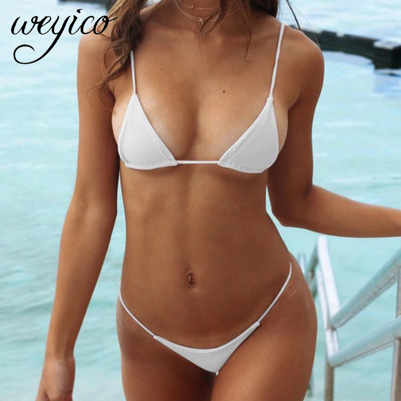 Micro Bikini Set Swimwear Sexy Swimming Suit For Women Bathing Suit Mini Top Thong Biquini Brazilian Triangle Swimsuit Bikinis